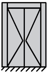 2 vantaux égaux